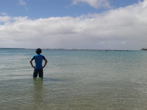 ワイキキから近い、穴場のオススメビーチ、アラモアナ・ビーチパーク