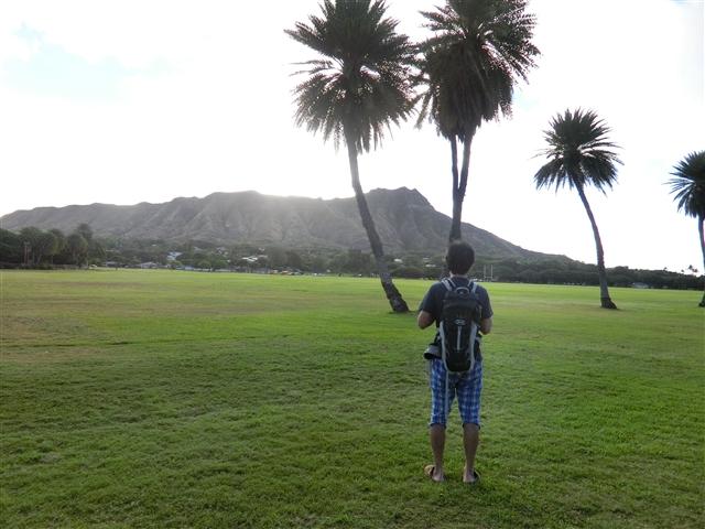 1月のハワイ長期滞在旅行記3、サンセットがきれいなレストラン2選