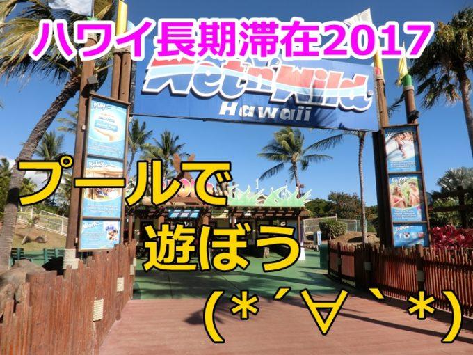 ハワイ旅行記17日目、ツアーでウェット&ワイルドハワイのプール遊び