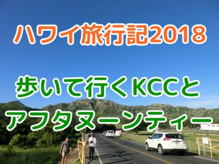 ハワイ4日目、KCCを経由してダイヤモンドヘッドまでウォーキングデイ