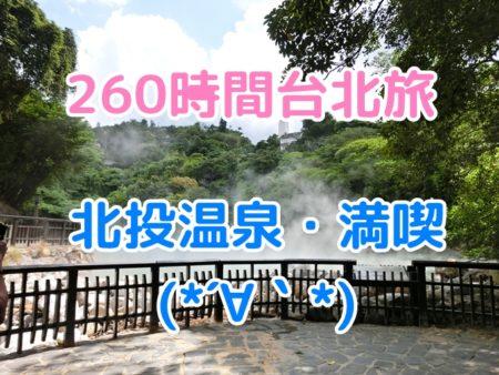 台北旅行記6、北投温泉個室風呂体験と士林夜市のB級グルメ達