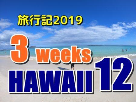 ハワイ旅行記2019:三連続バス旅の反動で何もしたくない一日