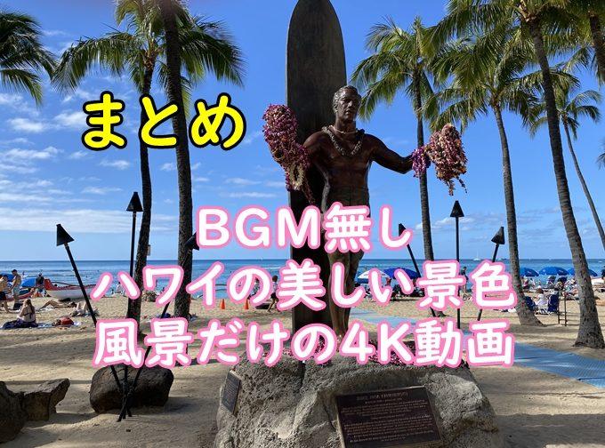 【まとめ】コロナ前のハワイの美しい景色・風景4K動画を300分まとめました