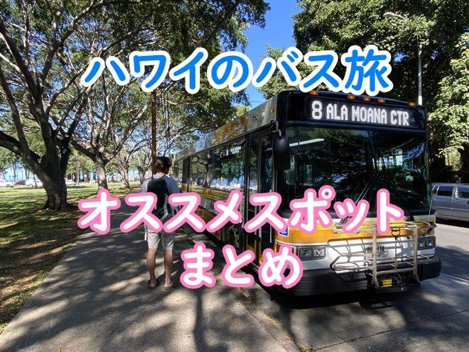 【21選】ハワイthe busで行くオススメ観光地・グルメを動画で解説