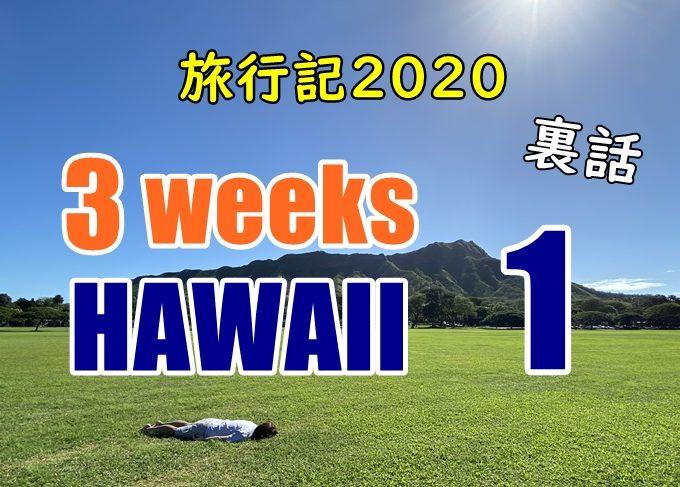 【裏話】ヤニックのハワイ旅行記2020#1:youtubeに載せられない話