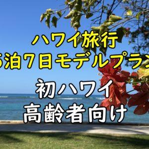 ハワイ旅行5泊7日モデルプラン|高齢者向け喜寿パウリニューアルプラン